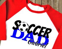 Soccer Dad Shirt. Soccer Dad Jersey. Soccer Dad Raglan. Soccer Dad Tee, Soccer Dan T Shirt. Soccer Coach Gift. Personalized Shirt. (1893)
