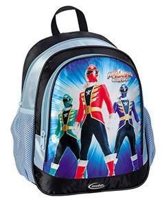 Power Rangers SUPER MEGAFORCE Light Blue Kindergarden Double Fill Backpack  Licensed Power Rangers Merchandise * Read more  at the image link.