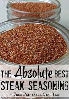 Try this recipe for our family's FAVORITE steak seasoning. We call it Magic Rub…