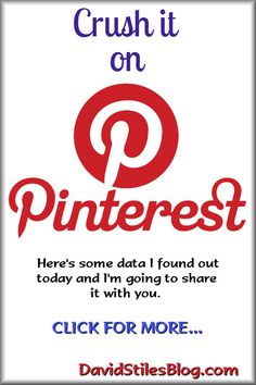 Crush it on Pinterest with this informative article. #pinterest, #pinterestboards. From DavidStilesBlog.com
