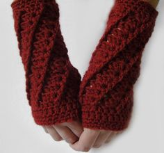 Fingerless Gloves Armwarmers Red Armwarmers Scarlet by LoveFuzz