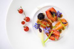 A salad from Manresa and Chef David Kinch: Summer fruit and vegetable salad with Pedro Ximénez vinaigrette