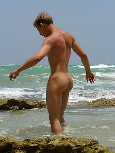 boy on a nude beach