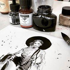 Marta Skowronek Fashion  Illustration Now on my desk- Ulyana Sergeenko S/S 13 #art #artist #artwork #sketch #drawing #illustration #fashion #fashionillustration #painting  #martasillustration #martaskowronek #mywork #onmydesk #workinprogress #watercolor #ink #lovetodraw #lovewatercolor #highfashion #hautecouture #ulyanasergeenko @ulyana_sergeenko_moscow