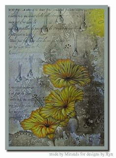 'Mir'acle Art Inspirations: Beautiful Hibiscus.........in the dark and in the light...... Designs by Ryn