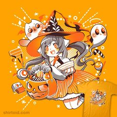 Trick or Treat Witch | Shirtoid #candy #cat #coinboxtees #ghost #halloween #witch