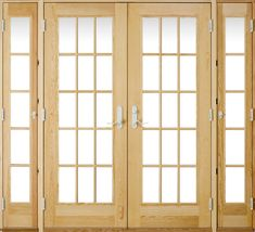 French Doors With Vented Sidelights.