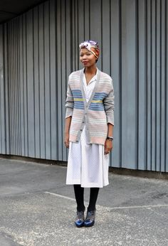 Global Street Style: From Tokyo to Tbilisi and Beyond - The Cut.  This is Asanda Sizani, fashion editor at Elle in Capetown. Love the headscarf!