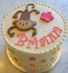 Little Girl Monkey Cake from The Cupcake Shoppe in Raleigh