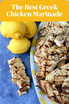 The Best Greek Chicken Marinade is loaded with lemon juice and zest, garlic, basil, oregano and more for a flavorful easy grilled chicken that everyone will love!