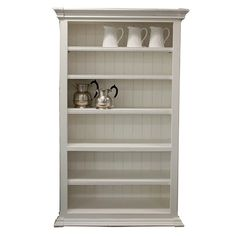 Beaumont & Braddock - Adjustable Open Bookcase - White 21% OFF | $1,889.00 - Milan Direct