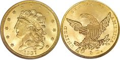 Most Valuable Classic Head Gold Half Eagle 1834-1838 US Coins