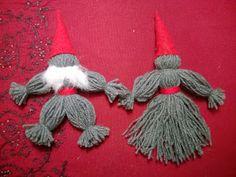 Elisa handicrafts and Yarn Gnomes Christmas Crafts, Xmas, Christmas Stuff, Diy Tassel, Handicraft, Easy Crafts, Crochet Necklace, Retro, Fun