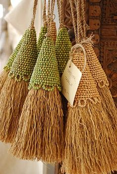 I know these aren't broomsticks, but if I was a witch and needed a broomstick, this is how I'd want it to look!