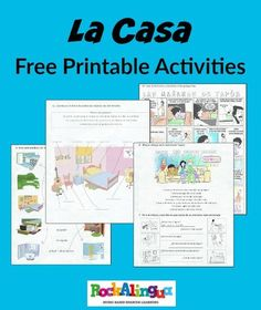 Free printables for teaching kids about the house in Spanish. The pdf has lots of exercises about rooms and furniture. These activities for with a great song that links common verbs to the house.
