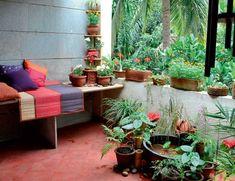 Garden in apartment balcony: Wonder Woman