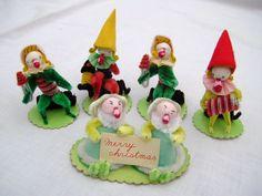 Vintage Pipe Cleaner Musicians / Elves  by QuantitiesofQuaint, $32.00