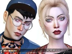 The Sims Resource - XOEV Glasses by Praline Sims for The Sims 4