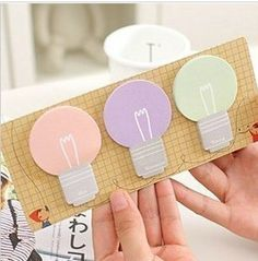 Bulb Type Notepad / Sticky Note Memo