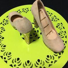 Like New Elle Sparkled Heels Worn once. In great condition. 5 inch heel. 1 inch platform Elle Shoes Platforms