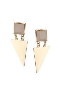 Stone Arrow Earrings
