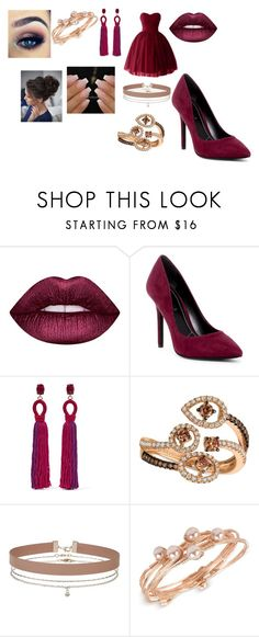 """""""Untitled #270"""" by megibson2005 on Polyvore featuring Lime Crime, Charles by Charles David, Oscar de la Renta, LE VIAN, Miss Selfridge and INC International Concepts"""