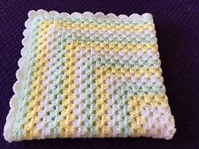 Handmade baby crochet pram blanket White, Mint Green and Lemon NEW Handmade Baby, Mint Green, Crochet Baby, Blankets, Projects To Try, Lemon, Blanket, Crochet For Baby, Cover
