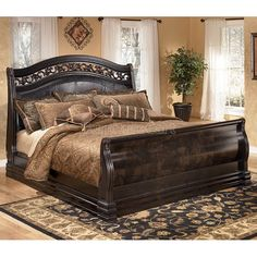 in by Ashley Furniture in Garland, TX - Suzannah Series Complete Queen Sleigh Bed. Ashley Furniture, Bedroom Design, Bed Design, Bed, Furniture, Sleigh Bedroom Set, Bedroom Decor, King Bedroom Furniture, Bedroom Furniture