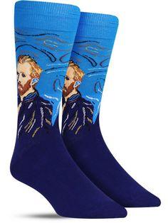 Van Gogh Self Portrait Unique Art Novelty Socks for Men