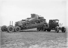 Scammell Pioneer tank transporter with carrying a Medium Tank (A6E1)