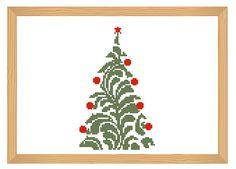 christmas cross stitch pattern winter cross by ILoveMyDesigns