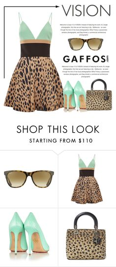 """Vision"" by conch-lady ❤ liked on Polyvore featuring Ray-Ban, FAUSTO PUGLISI, Charlotte Olympia, Christian Dior, women's clothing, women's fashion, women, female, woman and misses"