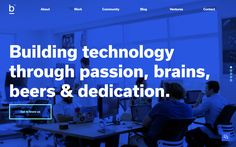 Blubeta http://mindsparklemag.com/website/blubeta/ Blubeta is a technology company specialising in webdesign, UI/UX and app design from Miami USA, awarded as site of the day by Mindsparkle Mag.