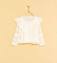 LACE T-SHIRT WITH FRILL-SHIRTS AND BLOUSES-GIRL   4-14 years-KIDS   ZARA United States