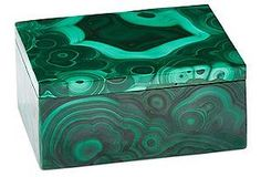 This malachite box looks stunning in a lavender room!