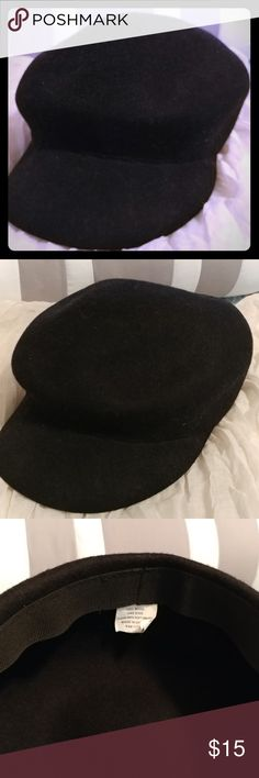 Black Wool Hat Chic Black 100% Wool Hat Accessories Hats