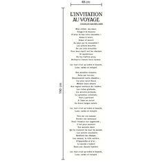 Quoi de mieux qu'un poème de Charles Baudelaire pour rendre vos murs si poétiques ? Ce lé unique sur papier peint intissé mesure 48 cm x 190 cm.