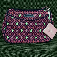 Vera Bradley Little Crossbody Brand new with tags! Never been used. Pattern is Katalina Pink Diamonds♦️ Vera Bradley Bags Crossbody Bags