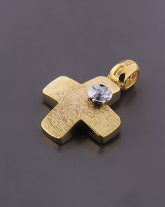 Σταυρός χρυσός και λευκόχρυσος Κ14 με ζιργκόν | eleftheriouonline.gr