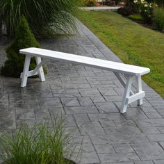 Outdoor A & L Furniture Yellow Pine Traditional Bench White - 154-WP WHITE