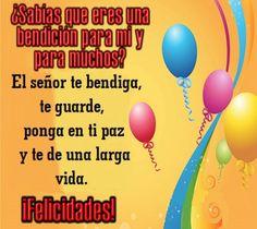 Frases Bonitas Para Facebook: Imagenes Con Mensajes De Cumpleaños Cristianos Par...