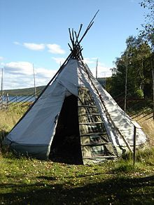 Lavvu or lávut - a cone-shaped tent used by the Sami people of northern Europe