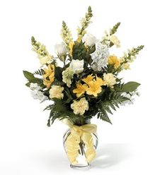 Sentimental Thoughts is just one of the many funeral floral arrangements available on Frazer Consultants' Tribute Store, an online flower store available on all Frazer-powered funeral home websites. Pew Flowers, Church Flowers, Flower Vases, Wedding Flowers, Amazing Flowers, Pretty Flowers, Yellow Flowers, Church Wedding Decorations, Wedding Altars