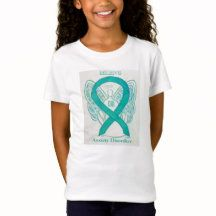 Polycystic Kidney Disease Teal Awareness Ribbon Angel Art Custom Shirts with Personalized Color and Message Options Mental Illness Awareness Week, Social Awareness, Create Awareness, Awareness Ribbons, Polycystic Kidney Disease, Thyroid Disease, Ribbon Shirt, Childhood Cancer, Custom Shirts