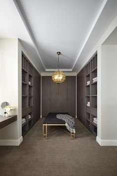 Clean, elegant, walk in closets