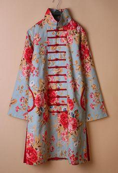 Cotton & Linen women jacket/ women blouse /cotton by kunniestore