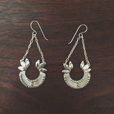 Sovereign Earrings - Handmade in Sterling Silver. Drop dead amazing.