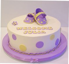 Baby Shower cake or LSU birthday cake