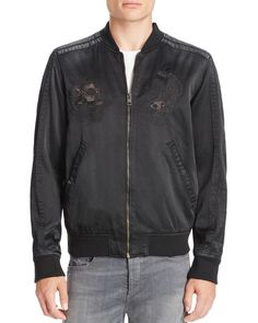 Diesel J-Blues Embroidered Bomber Jacket