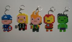 This set of keychains is perfect for any fan of the Avengers. It includes Captain America, Iron Man, Thor, Loki, and the Hulk. Each keychain measures